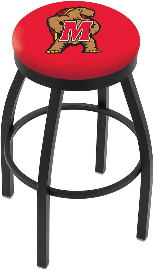 30 L8B2B – Black Wrinkle Maryland Swivel Bar Stool with Accent Ring by Holland Bar Stool Company