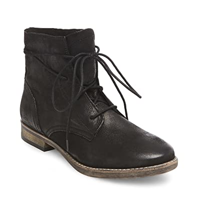 5ce9ddda6eb Image Unavailable. Image not available for. Color  Steve Madden Women s  Eureka 3 quot  Low Heel Black Leather Ankle Boot ...