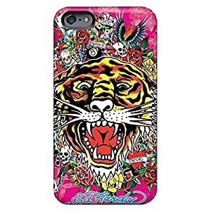Anti-scratch phone cover case Skin Cases Covers For Iphone Ultra iphone 5s - ed hardy tiger