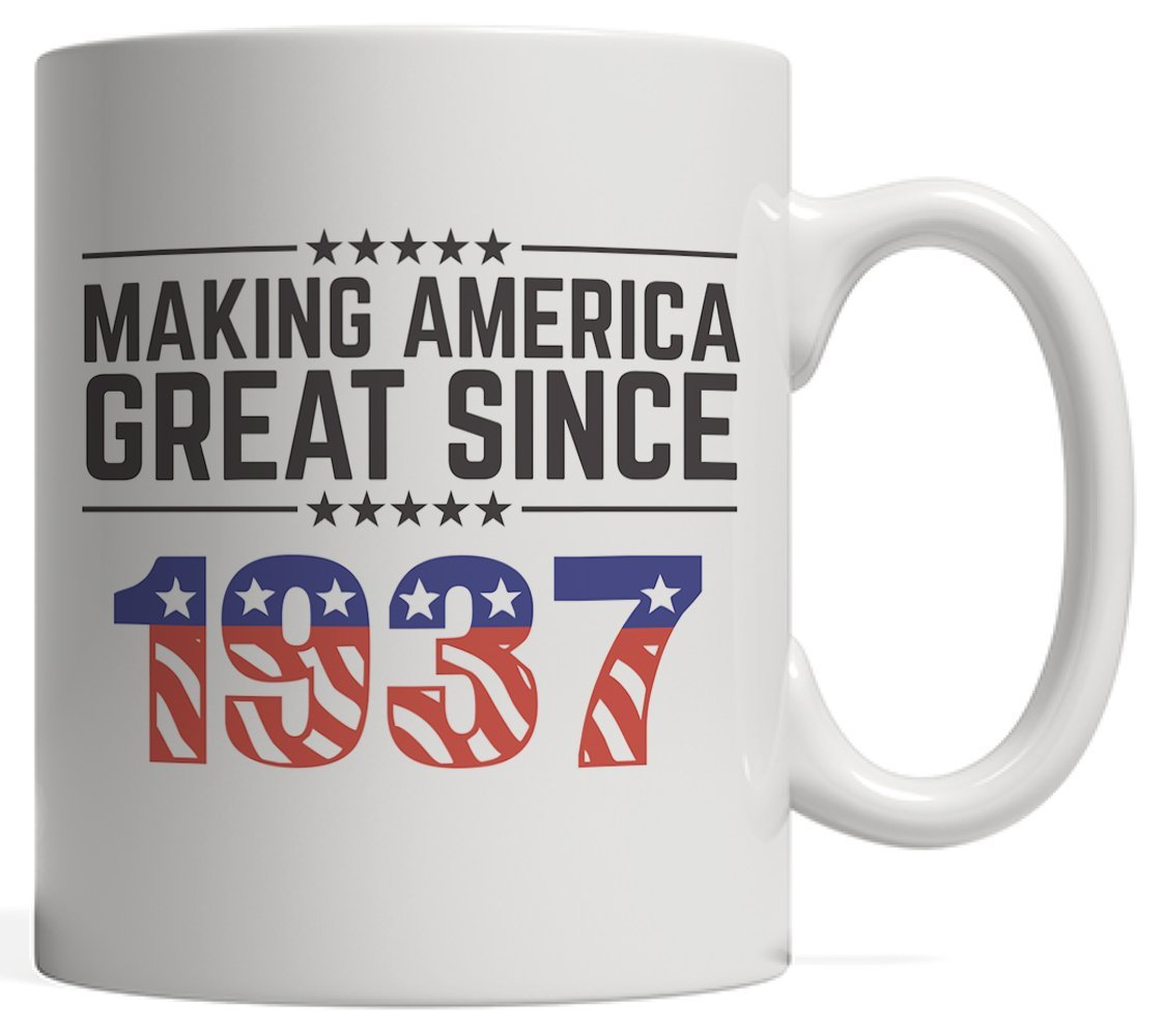 Making America Great Since 1937 Mug - USA Patriotic Anniversary 81st Birthday Gift Idea For Eighty One Years Old American Patriot Who Make This Country Greatness Every Year!