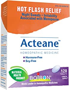 Boiron Acteane, 120 Tablets, Homeopathic Medicine for hot ...