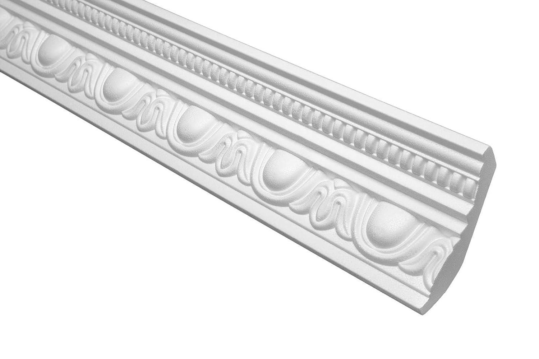 Profil Coinc/é Eps Formfest Marbet 70x90mm B-24 5 Plinthes 10 M/ètres blanc