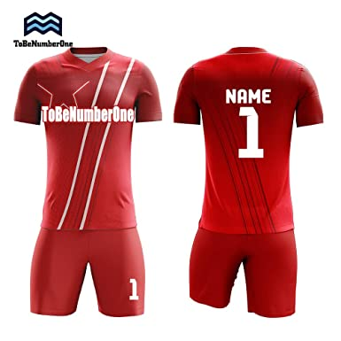 b2f7789c6 Hot Star patttern Custom red Jerseys Football Club wear Unique Soccer  Uniforms Plus Size (S