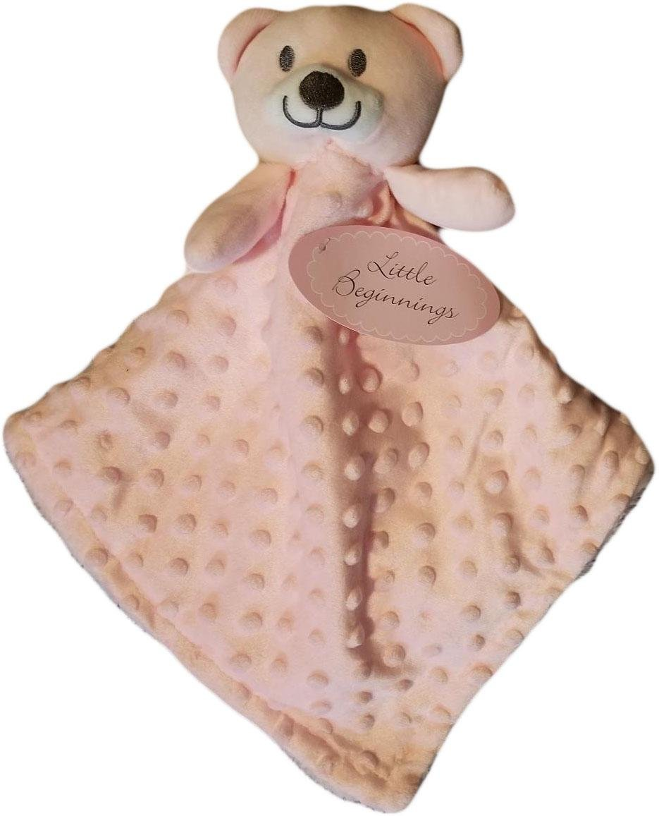 Little Beginnings Pink Bear with Dots Lovie Nunu Adorable and Cute for precious babies