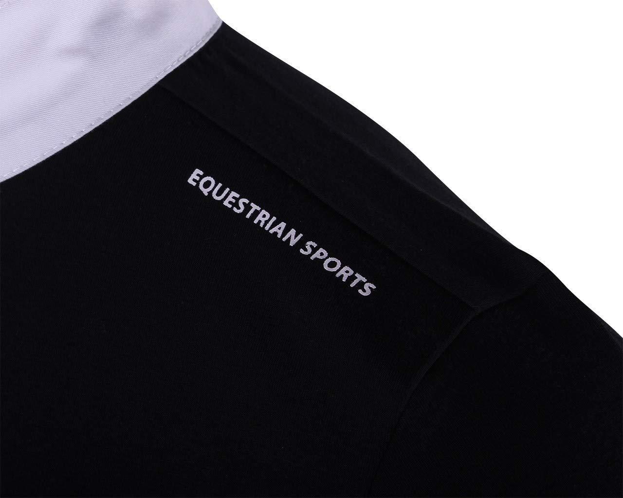 QHP M/ädchen Turniershirt Dewi Kurzarm Stehkragen Knopfverschluss