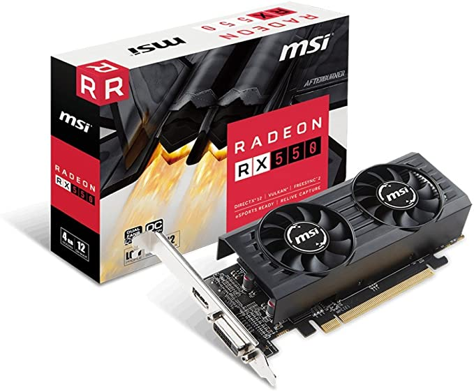 Amazon Com Msi Rx 550 4gt Lp Oc Computer Graphics Cards Computers Accessories