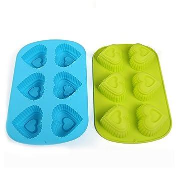 Seych 2 pcs – molde de silicona para magdalenas/cupcakes vasos de para horno de
