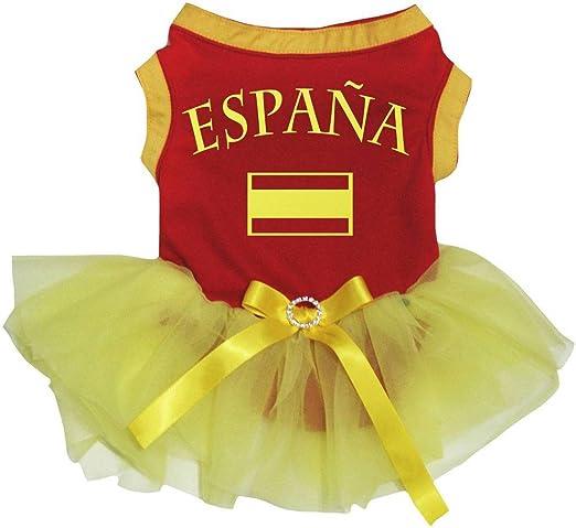 Petitebelle Vestido de tutú con Bandera de Espana, diseño de ...