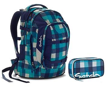 78cca5e3e0c26 Satch Schulrucksack-Set 2-TLG Pack Blister Blau  Amazon.de  Koffer ...