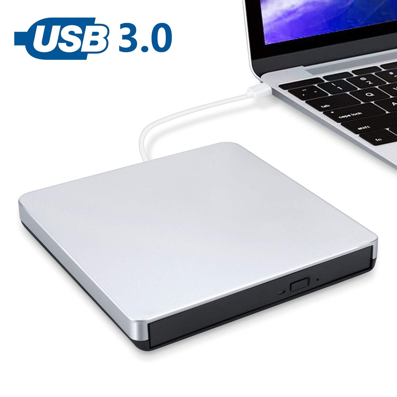 MMUSC External CD/DVD Drive for Laptop,USB Burner Writer Drive Player High Speed Data Transfer for Laptop/Desktop/MacBook/Mac OS/Windows10/8