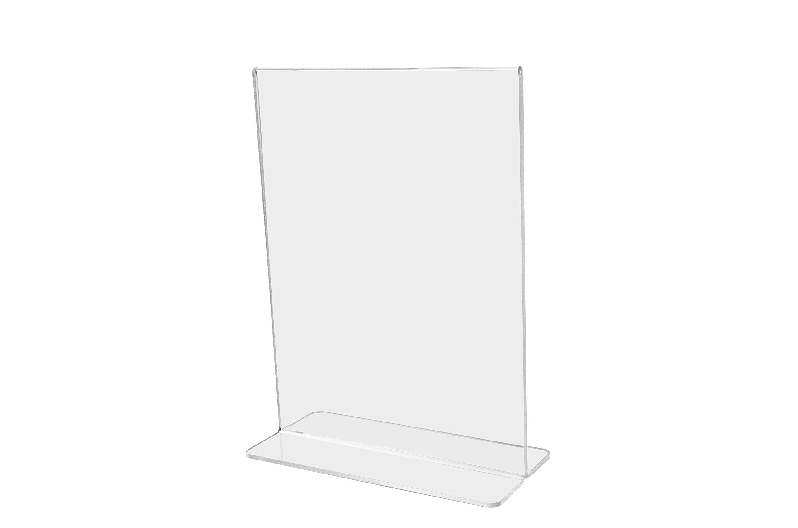 Marketing Holders Sign Holder Literature Flyer Poster Frame Letter Notice Menu Pricing Deli Table Tent Countertop Expo Event Display Stand Double Sided Bottom Loading 8'' w x 10'' h Pack of 24