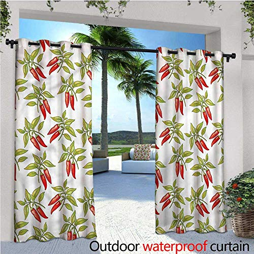 Oatmeal Dinner (warmfamily Vegetables Outdoor- Free Standing Outdoor Privacy Curtain Mexican Cusine Dinner for Front Porch Covered Patio Gazebo Dock Beach Home W108 x L84)