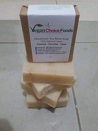 Amazon com : Sea Moss Soap Handmade With Dr  Sebi Approved