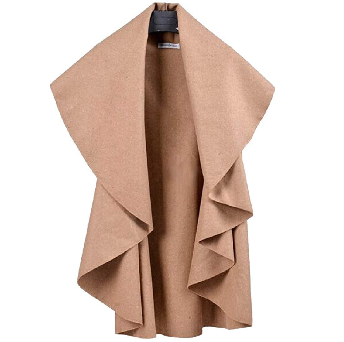 Coolred-Women Poncho with Drape Trendy Woolen Vest Cardigan Jacket
