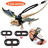 KHLZ US Adjustable Lizard Leash Bearded Dragon Harness Cool Leather Wings Safety Walking Leash(S,M,L,3pack)