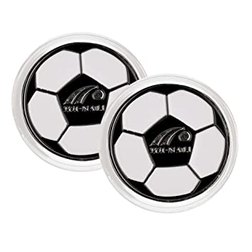 Homyl 2 Pieces Football Soccer Referee Flip Coin Coaches' & Referees' Gear