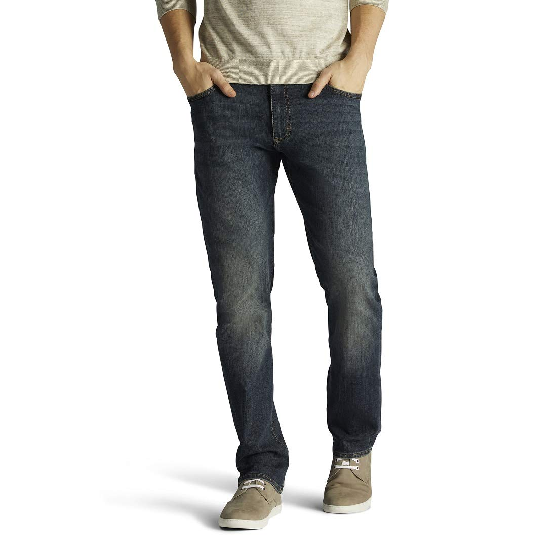 LEE Mens Big & Tall Modern Series Extreme Motion Straight Fit Jean