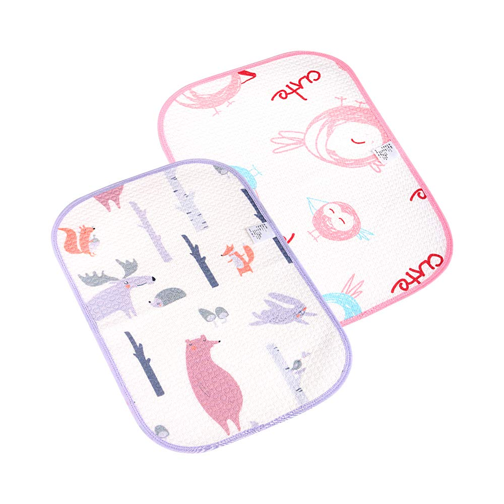 "i-baby 2//pack Organic Cotton Baby Changing Pad 28x36/"" Pack of 2 Kids Breathable Urine pad 70x90cm Leak Proof Mattress Pad Sheet Protector Toddler Waterproof Mat"