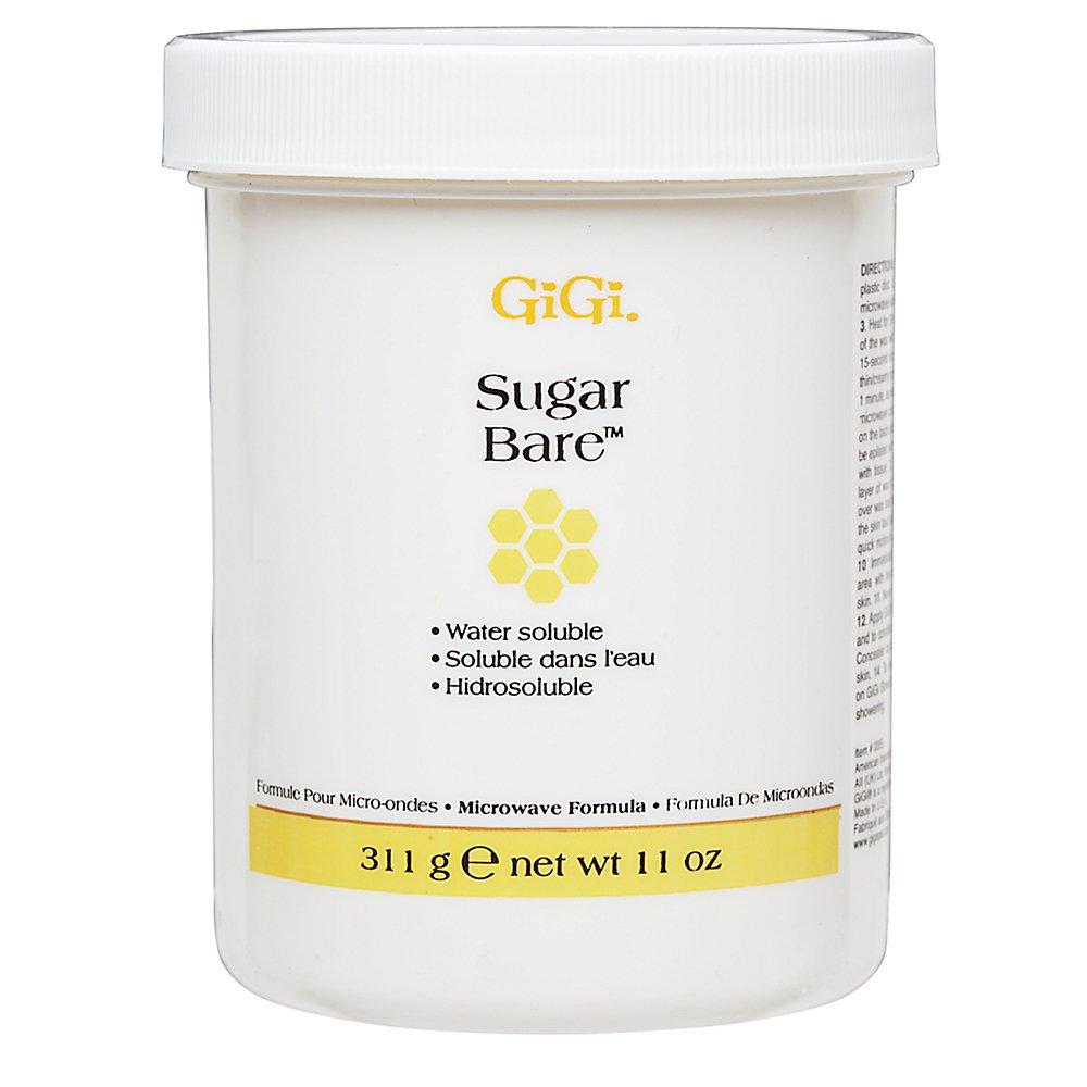 GiGi Sugar Bare Hair Removal Wax with All-Natural Cane Sugar, Microwave Formula, 11 oz