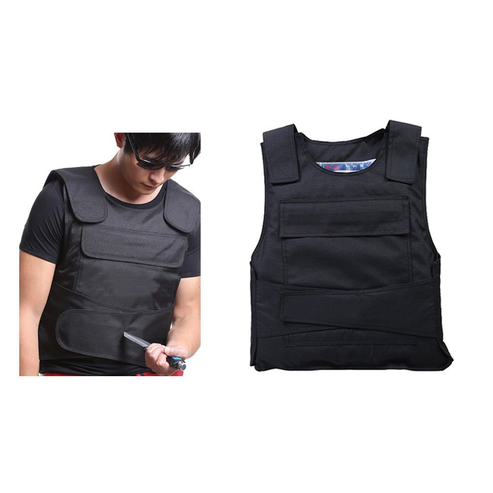 Protective Bulletproof Knifeproof Vest, Safety Tactical Stab Proof Vest Clothes, Front and Back