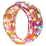 RGB Color Changing String lights, easyDecor Copper Wire 100 LED Multi-Color 33ft Decorative Christmas Fairy Starry Rope light for Party, Bedroom Decor, Indoor Decorations, Patio, Garden