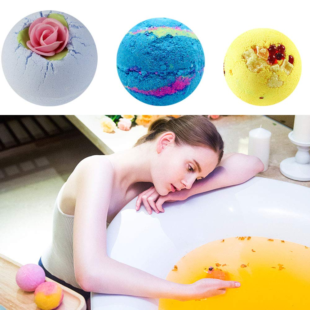 Bath Bomb Mold Set 30 Pieces DIY, Craft Projects, 3 Size Bath Bombs(1.8 inch, 2.2 inch, 2.4 inch), Poualss