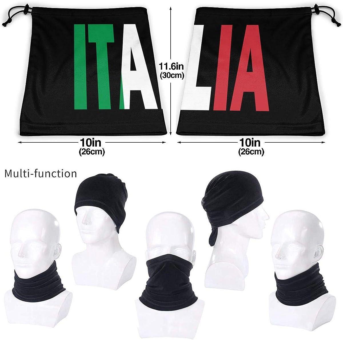 Italia Flag Italian Men Women Face Mask Windproof Neck Warmer Winter Bandana For Fishing Motorcycling