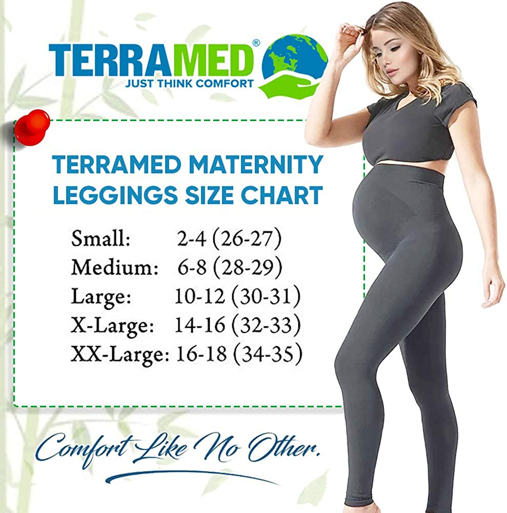 Terramed Maternity Leggings Active Wear Over The Bump Pants Pregnancy Shaping Over The Belly Postpartum Breastfeeding