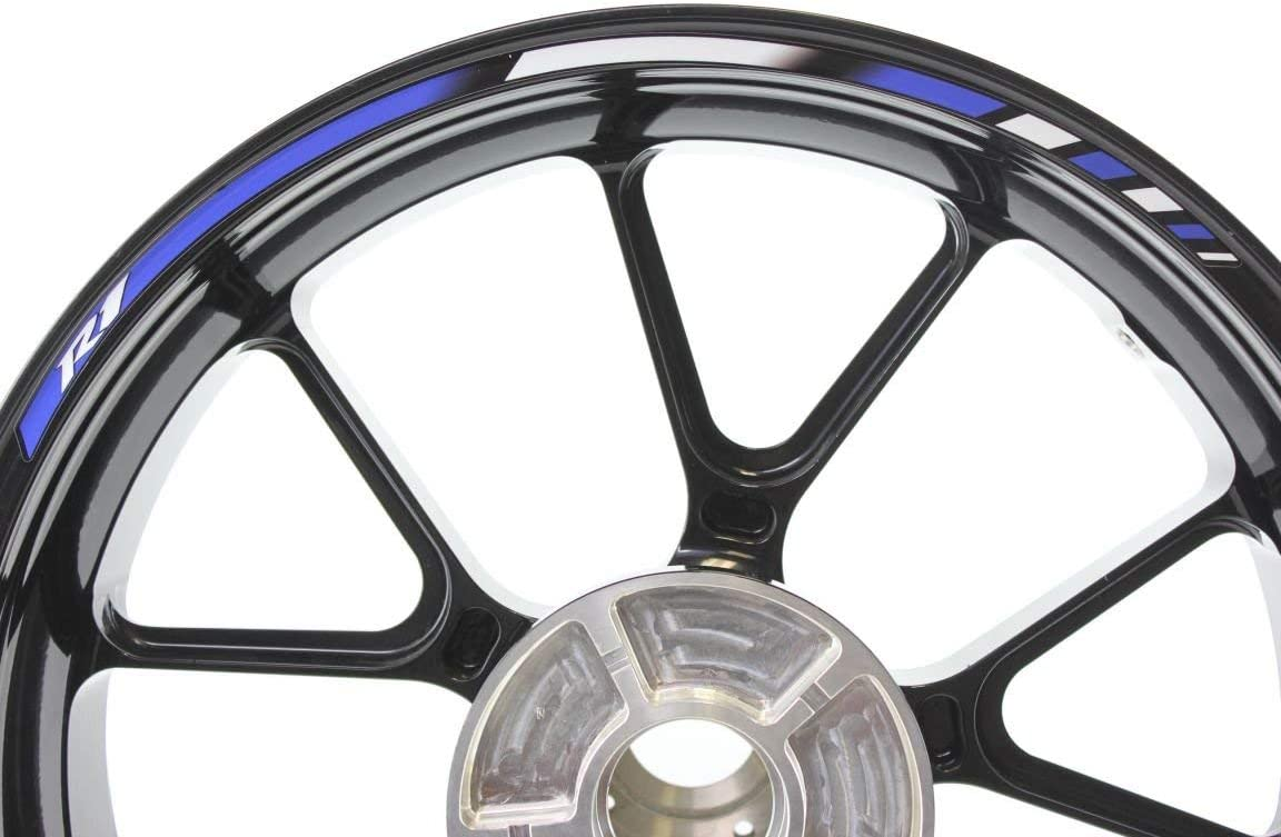 Impressiata Yamaha Yzf R1 Motorrad Felgenrandaufkleber Specialgp Blau Komplettset Aufkleber Sticker Auto