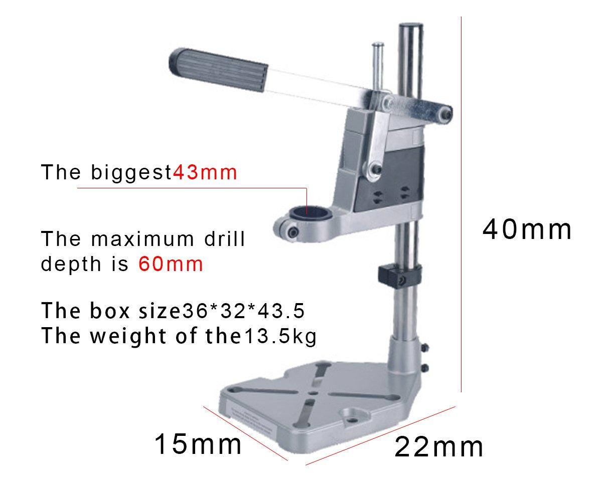 NRG Clever/® TS6109 supporte pour des forets /à double col horizontale et verticale hauteur 40 cm. Colonne de forage
