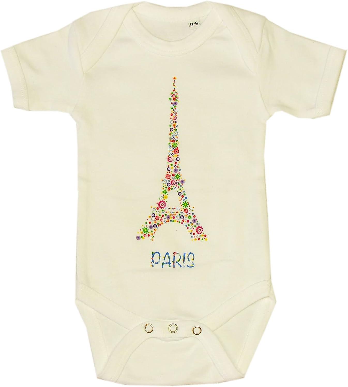 Body B/éb/é Paris Tour Eiffel Fleurie Blanc