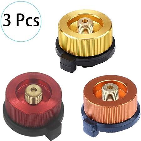 HPiano 3 Piezas Adaptador de la Estufa de Gas Que acampa Boquilla Conector Adaptador De Transferencia para Botella Gas Hornilla Estufa, Conector de ...