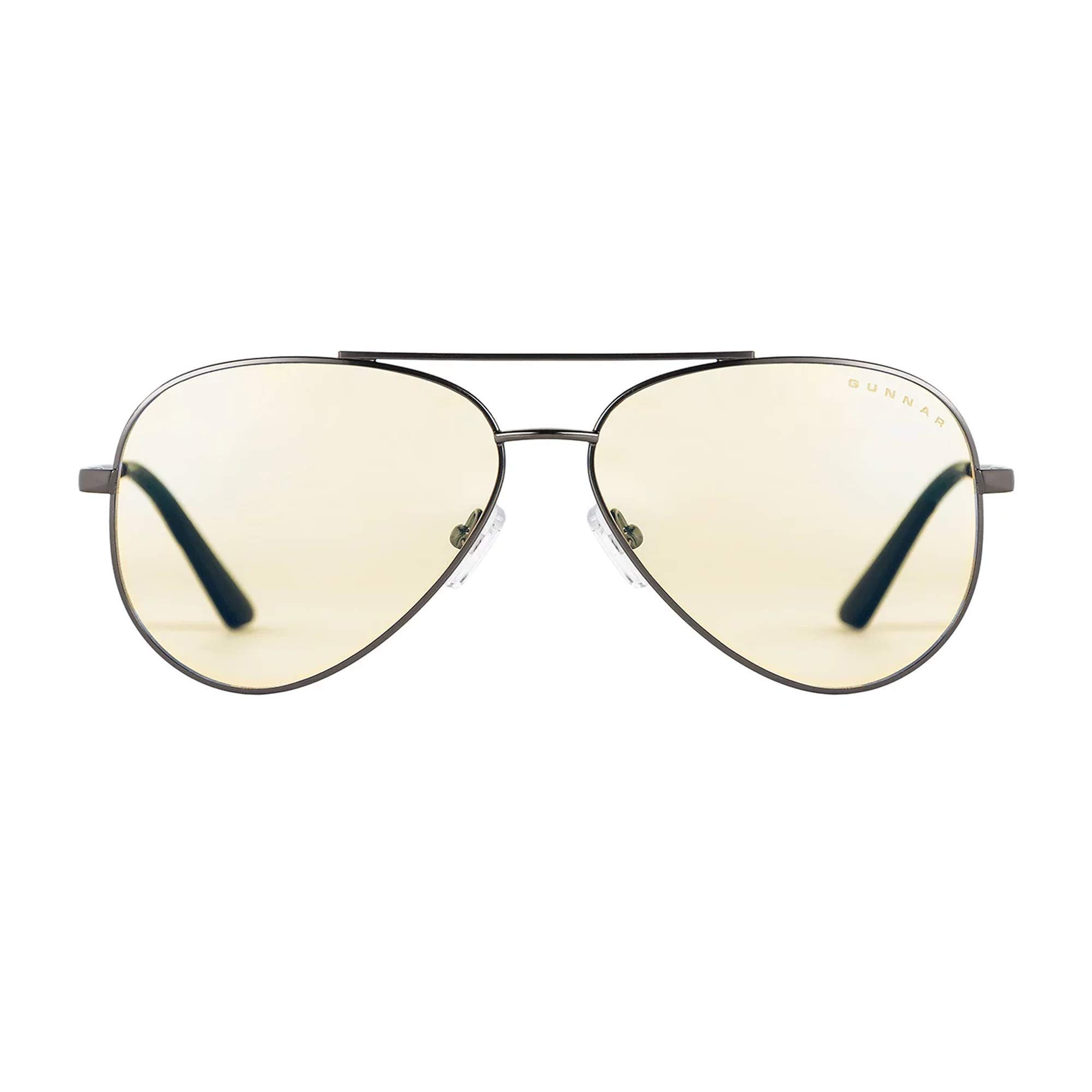 GUNNAR Gaming and Computer Eyewear/Maverick, Clear Tint - Patented Lens, Reduce Digital Eye Strain, Block 35% of Harmful Blue Light