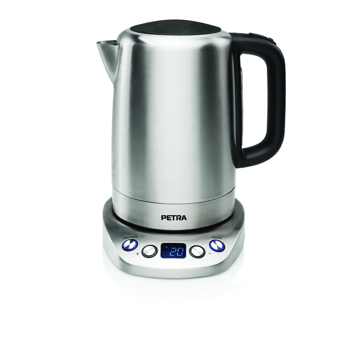 Petra Electric WK 54.35 Thermostat Kettle 1,7 l, Control Digital, 1850 W, 1.7 litros, Acero Inoxidable, Plateado: Amazon.es: Hogar