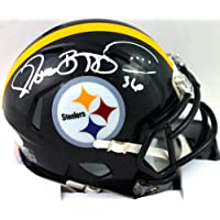 $155 » Jerome Bettis Autographed Pittsburgh Steelers Speed Mini Helmet-Beckett W White