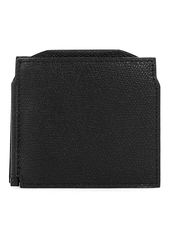 (ヴァレクストラ) VALEXTRA メンズ 三つ折り財布 マネークリップ GRIP SPRING V0L54 28 [並行輸入品] B072WLDH21Nero