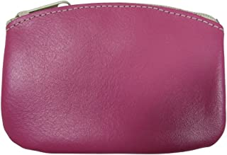 product image for North Star Men's Large Leather Zippered Coin Pouch Change Holder (5 X 3.5 X 0.25 Inches, Pink)