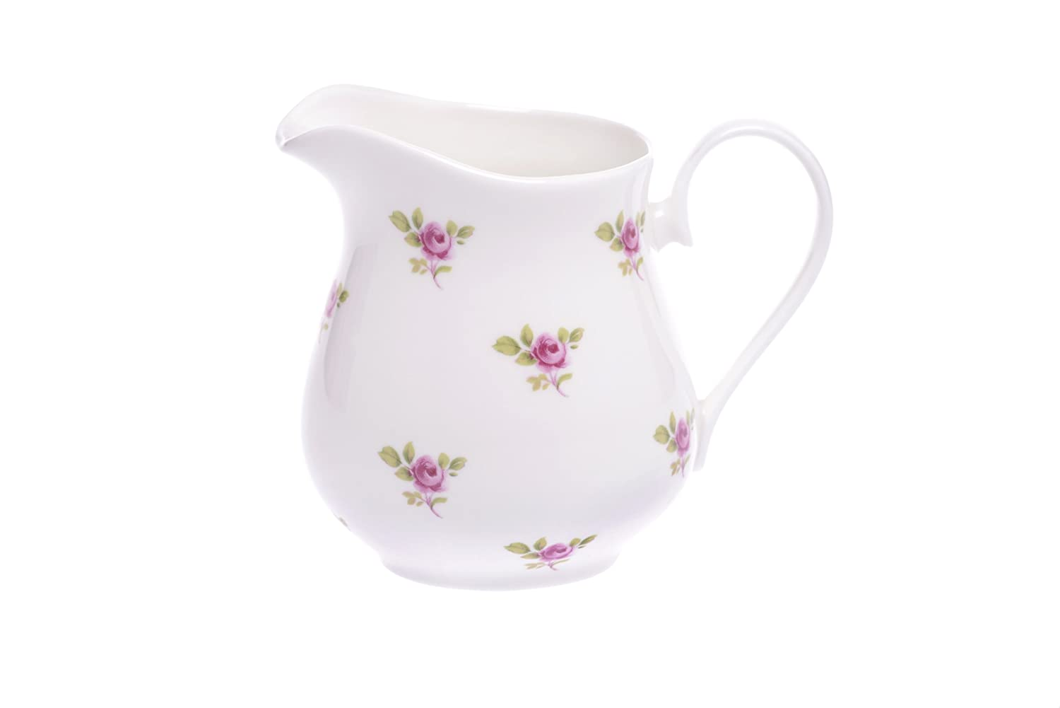Bone China 1/2 PINT MILK JUG- DOT ROSE Kirsty Jayne China- Hand decorated in the Potteries, Staffordshire, England.