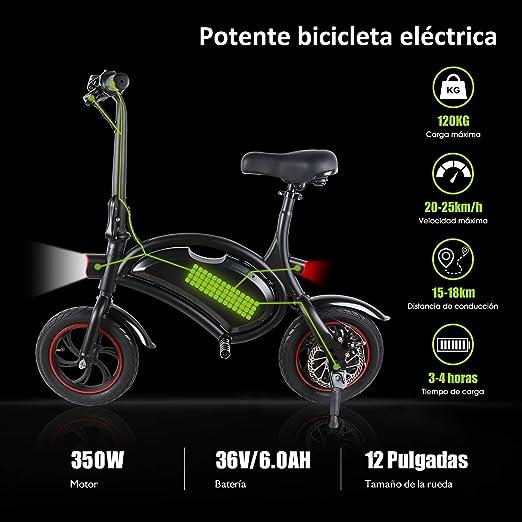 Windgoo Bicicleta Electrica Plegables, 350W Motor Bicicleta ...
