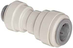 "John Guest Acetal Copolymer Tube Fitting, Reducing Straight Union, 3/8"" x 5/16"" Tube OD (Pack of 10)"