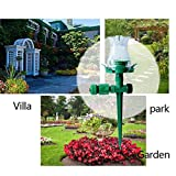 2Pcs/Lot Garden Irrigation Sprayer 7 Colors LED Lights Water Sprinkler Grass Watering Head For Garden Decoration Lamp