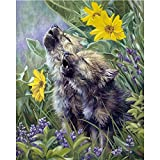 DIY Diamond 5D Embroidery Paintings Rhinestone Pasted diy painting Cross Stitch,Full Drill Horse Vintage Wall Sticker Home Decor , Cute Wolf