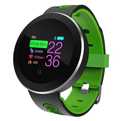 Smartwatch Bluetooth Impermeable IP68 pantalla color Smart Sports pulsera, con la Monitoreo de ritmo cardiaco/Monitoreo de Presión de oxígeno de ...