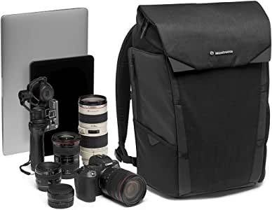 Manfrotto MB CH-BP-50 Chicago Camera Backpack Medium, Versatile Daypack/Photo Bag, for Photo/Videographers, for DSLR, Mirrorless, Laptops, Lenses and Travel Gear