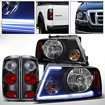 For Ford F150 2004-2008 Euro Chrome Super Bright High Power LED Tail Brake Light