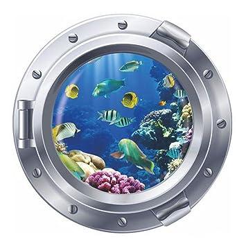 XZANTE 3D Etiqueta de Pared de Decoracion de Arte de Ventana de Buscando a Nemo para habitacion de ninos Plata 11 Piezas de Peces: Amazon.es: Hogar