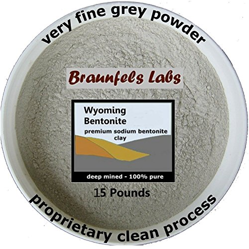 15 Pounds 100% Pure Sodium Bentonite Clay