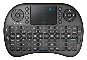 afbcc9bd549 Rii i8BT Bluetooth Mini Wireless Keyboard with Touchpad Mouse Built-in  Rechargeable Battery