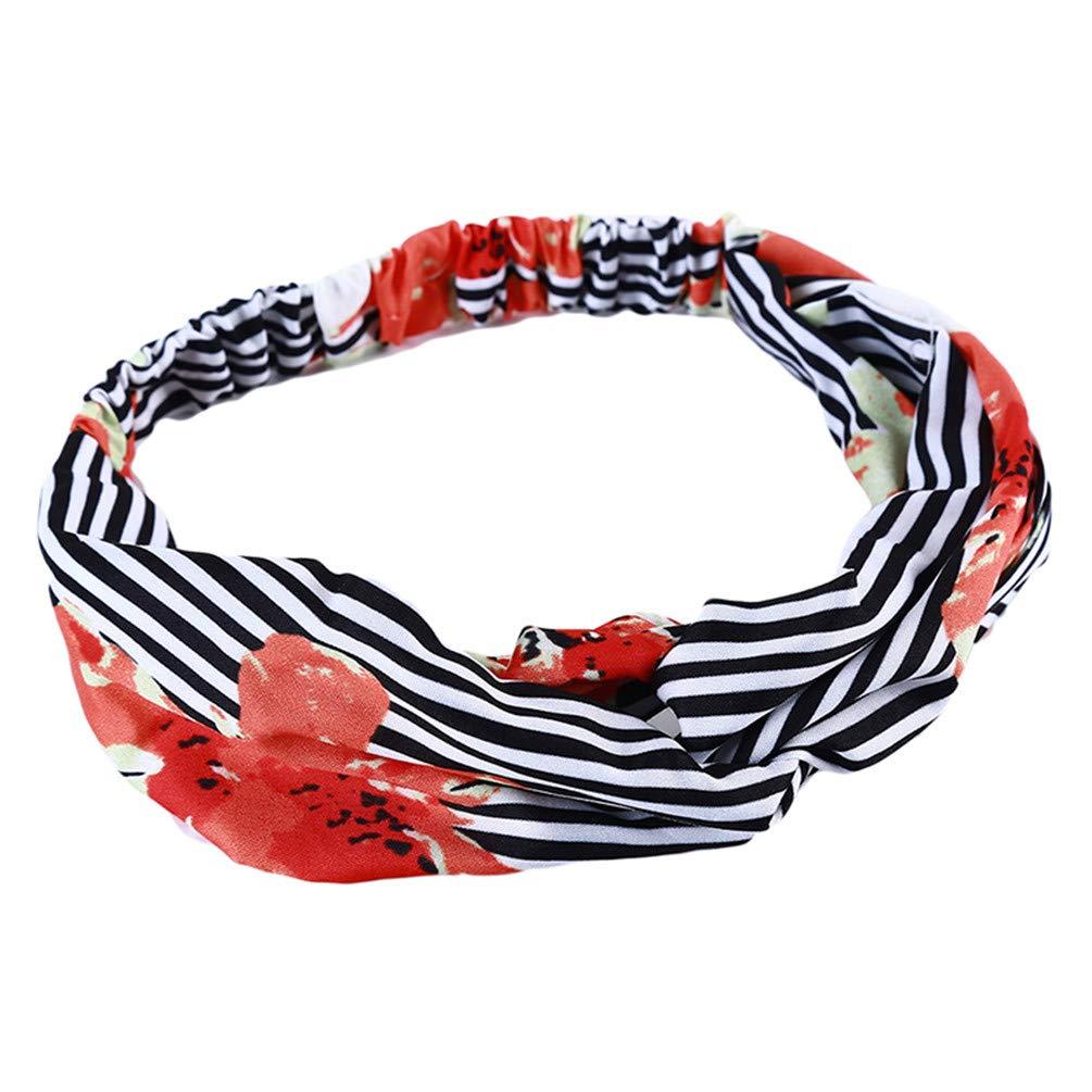 LANWF Goldfish Print Cross Hair Band Cute Elastic Headbands Beautiful Headwrap Hair Accessory
