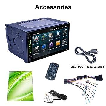 RK-A705 7 Pulgadas 1024 * 600 HD Pantalla táctil para Android 6.0 Reproductor Integrado GPS FM Manos Libres teléfono Llamada Coche DVD máquina: Amazon.es: ...